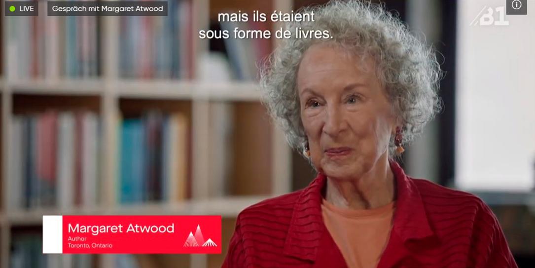 Margaret Atwood en la Feria del Libro de Frankfurt